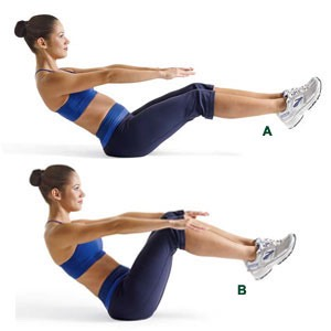 Ab workout to get toned in 2 weeks results trusper for Floor ab workouts