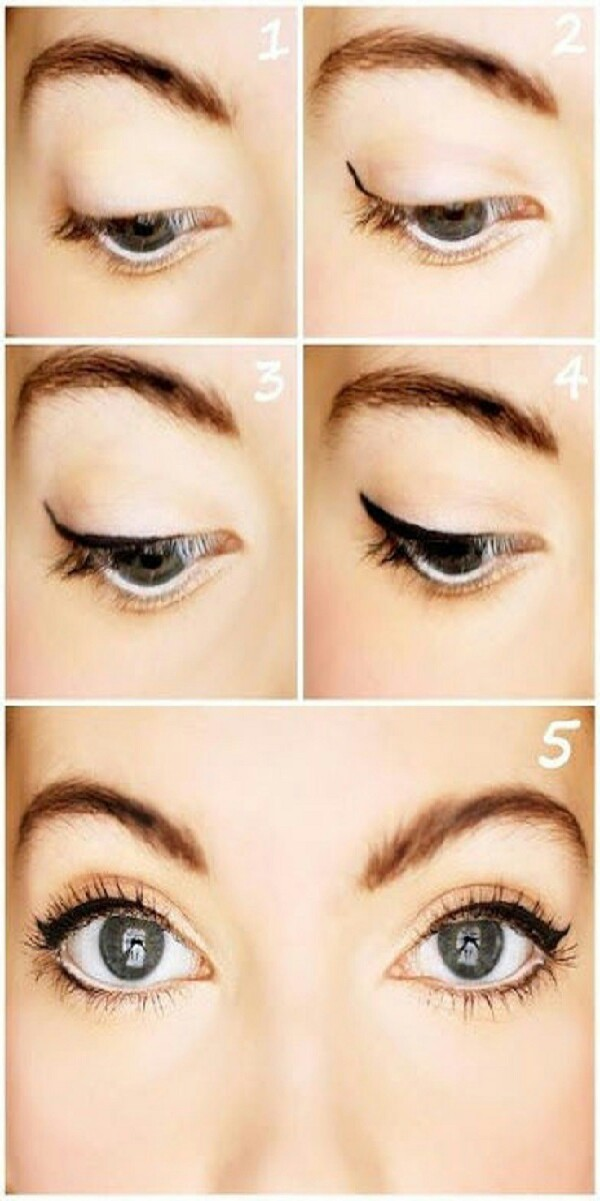 hard time doing your eyeliner?? just draw a thick line on ...