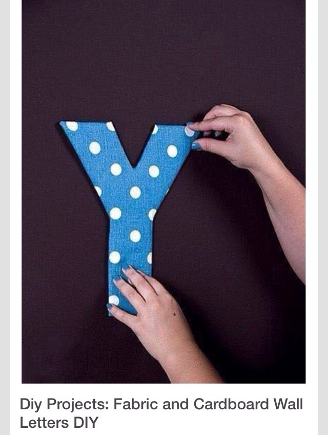Diy project fabric and cardboard wall letters trusper for How to cover cardboard letters with fabric