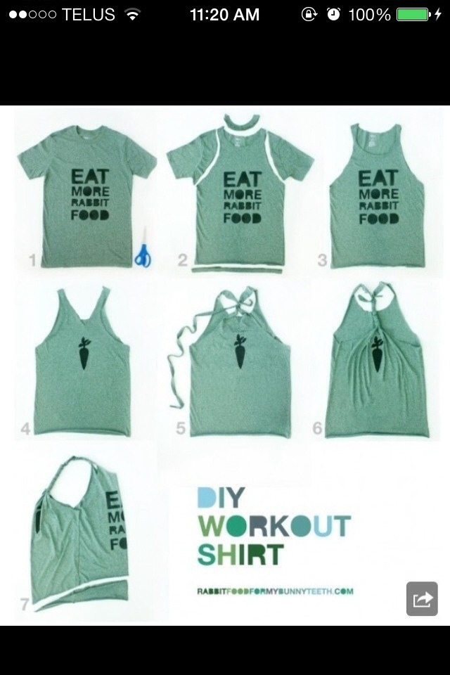 how to cut t shirts to work out