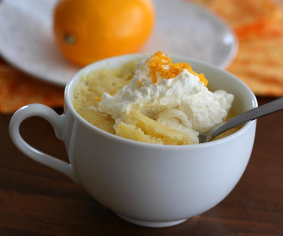 Lemon Mug Cake With Lemon Extract