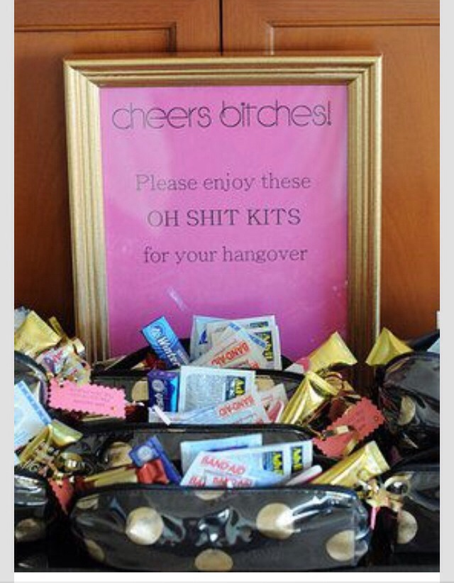 Your Bachelorette Party Morning After Quot Oh Shit Kit Quot Also A Great Idea For Girls Night Out