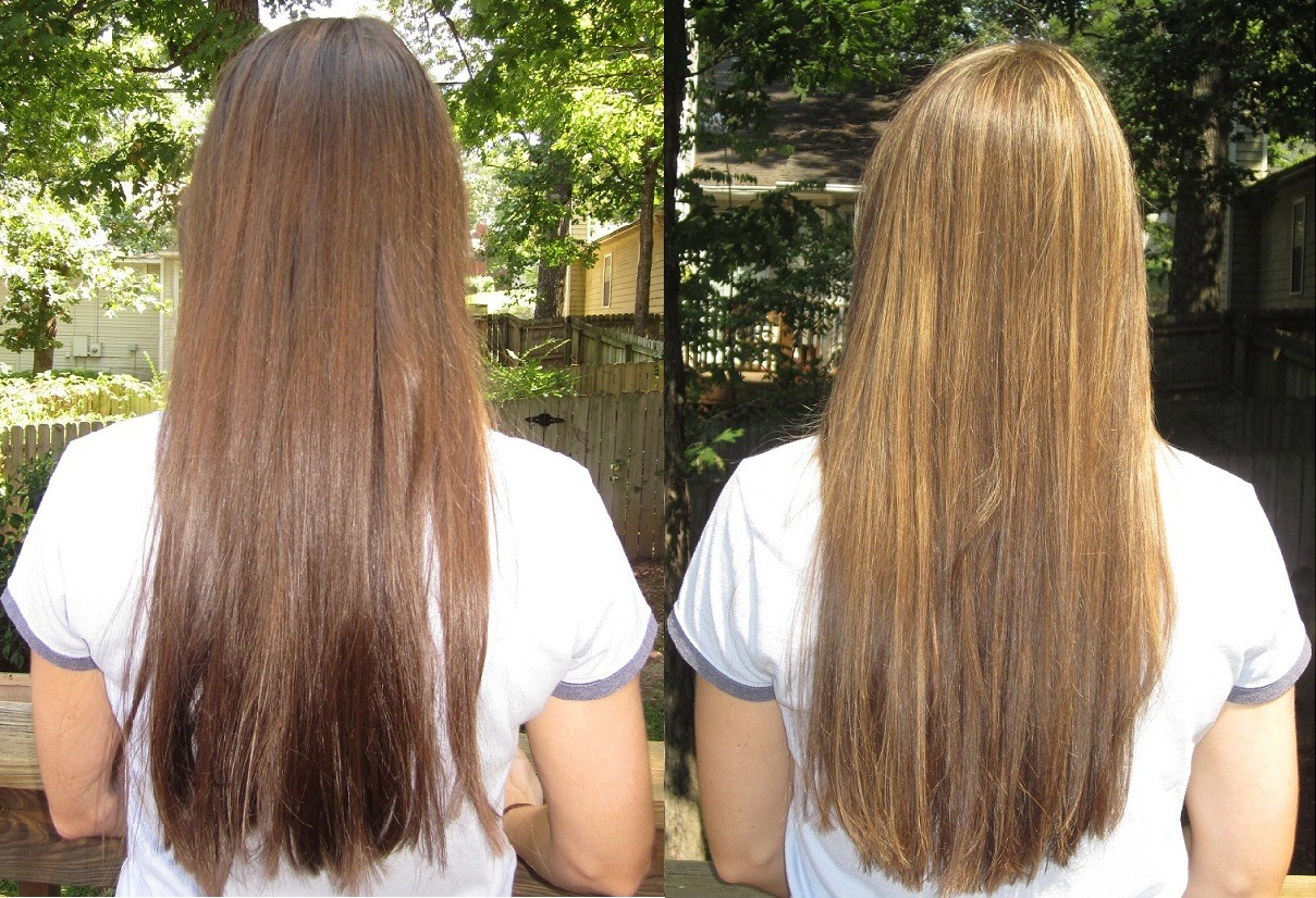 Lighten Hair With Vitamin C And Head And Shoulders Dark Brown Hairs