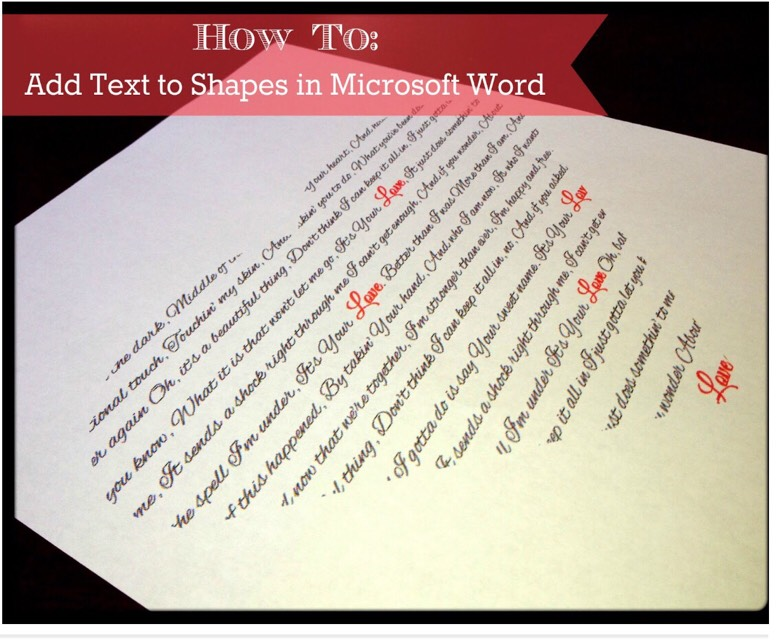 Learn How To Add Text To Shapes In Microsoft Word. 😚