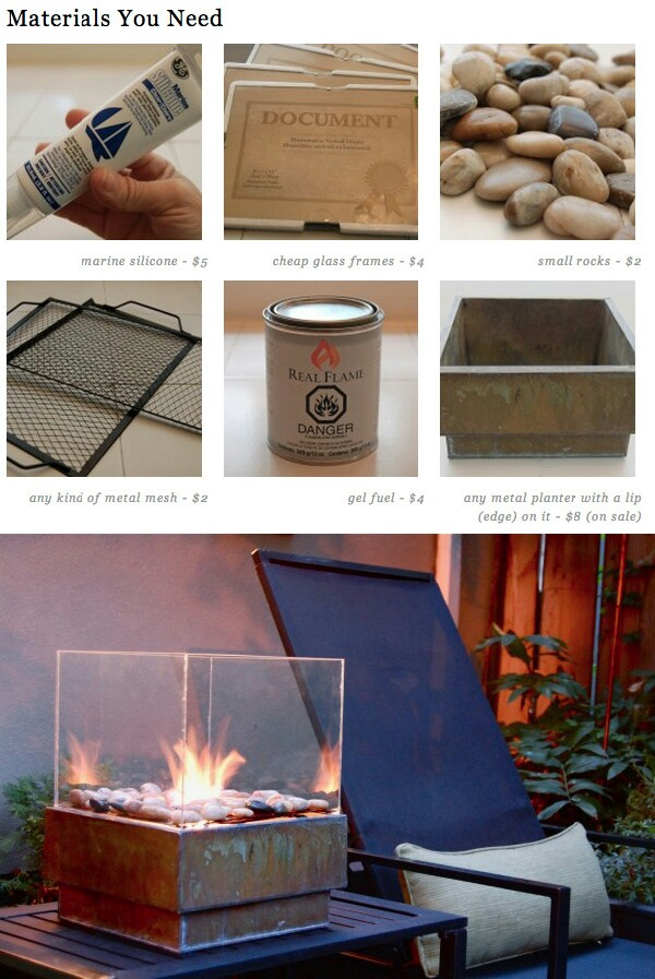 31 diy ways to make your backyard awesome this summer for Materials needed to build a fire pit