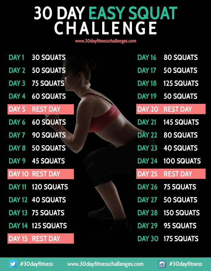 30 day workout challenges 👍