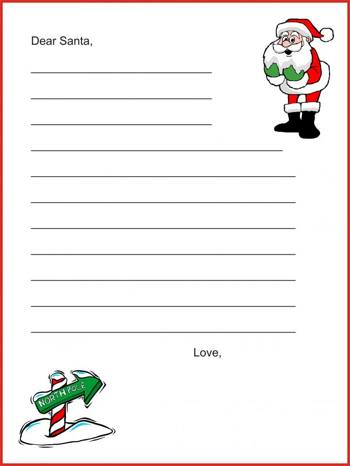 Free Christmas Printables For Kids - Letters To Santa, Thank You ...