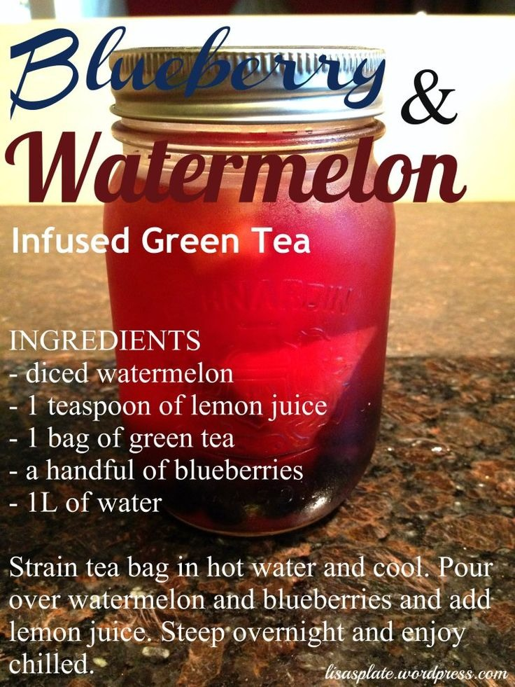 ️💚Blueberry And Watermelon Infused Green Tea💚 ️ ...