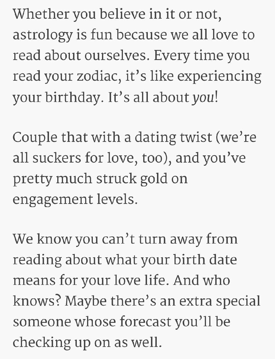 what your sign says about dating life