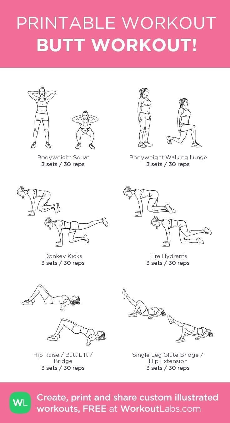 Critical image with printable work out routines