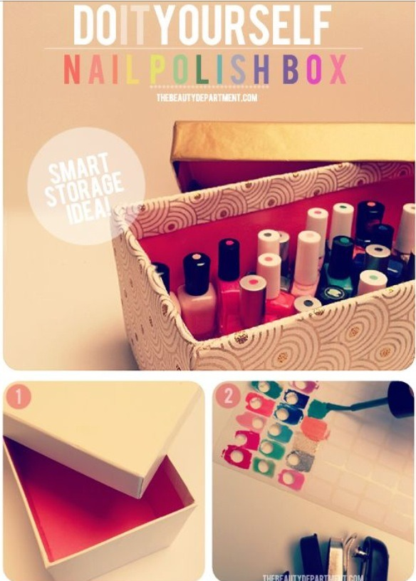 Diy nail polish box trusper for Diy shoes with nail polish