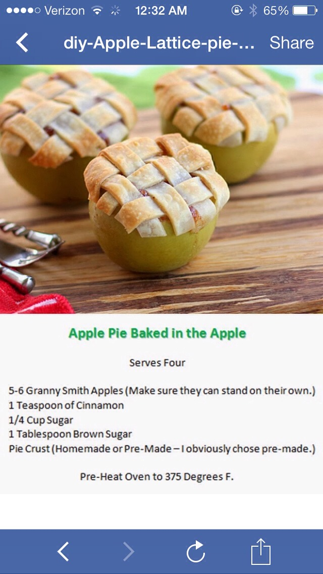 Apple Pie Baked In Apples! Omg So Good!!
