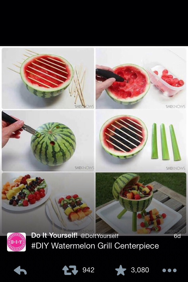 Fruit Grill 😃 Great For The Summer!