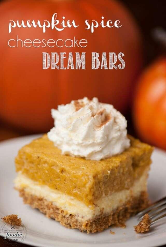 Pumpkin Spice Cheesecake Dream Bars!!!