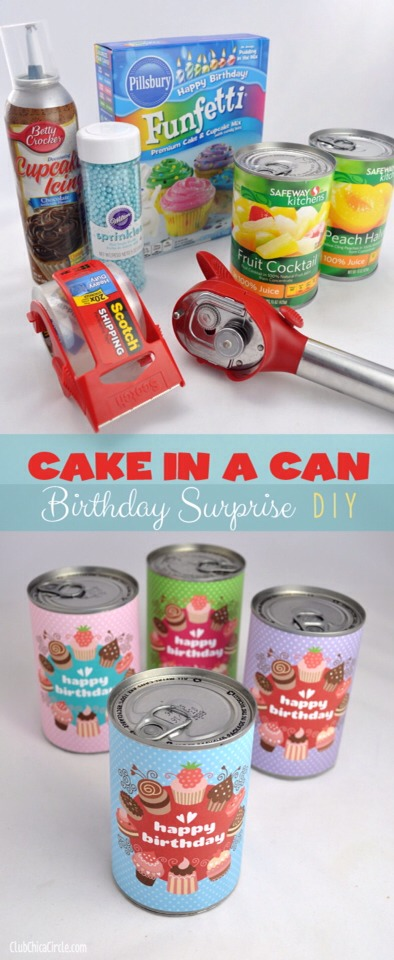 🎂🎉Birthday Cake In A Can Surprise🎉🎂