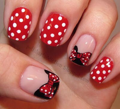 ❤️For All You Mickey/Minnie Lovers. Check Out These Cute Nails!!❤️😍👏