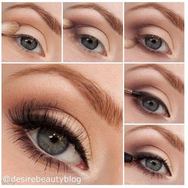 Лёгкий макияж на глазах
