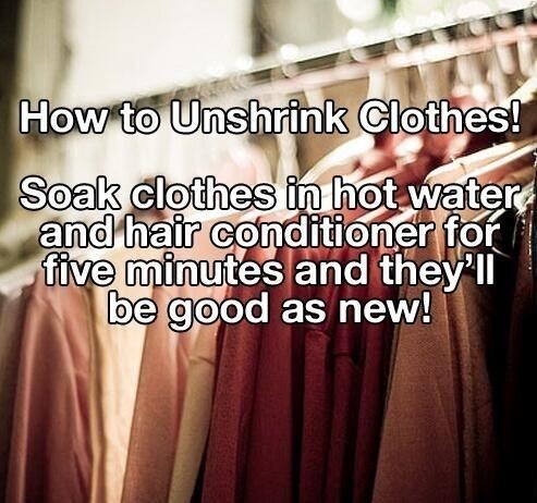 how to unshrink clothes trusper. Black Bedroom Furniture Sets. Home Design Ideas