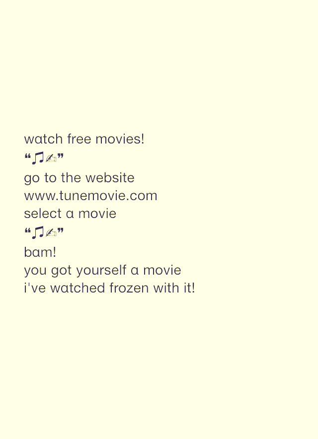 Watch Free Movies At www.tunemovie.com ( It Really Works! ) (: