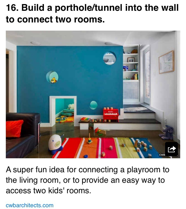 Cool Way To Connect A Kids Room And Play Room Trusper
