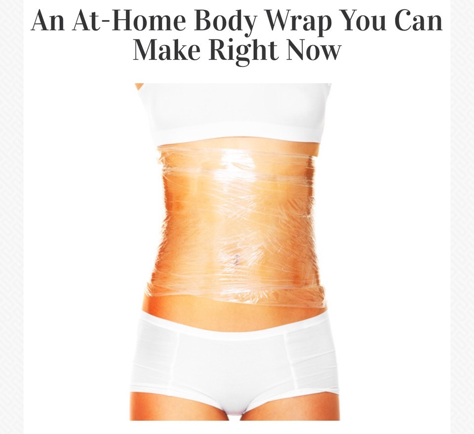 Diy At Home Weight Loss Wrap: Drop 10 Pounds In A Week - Easy At Home Body Wrap👙