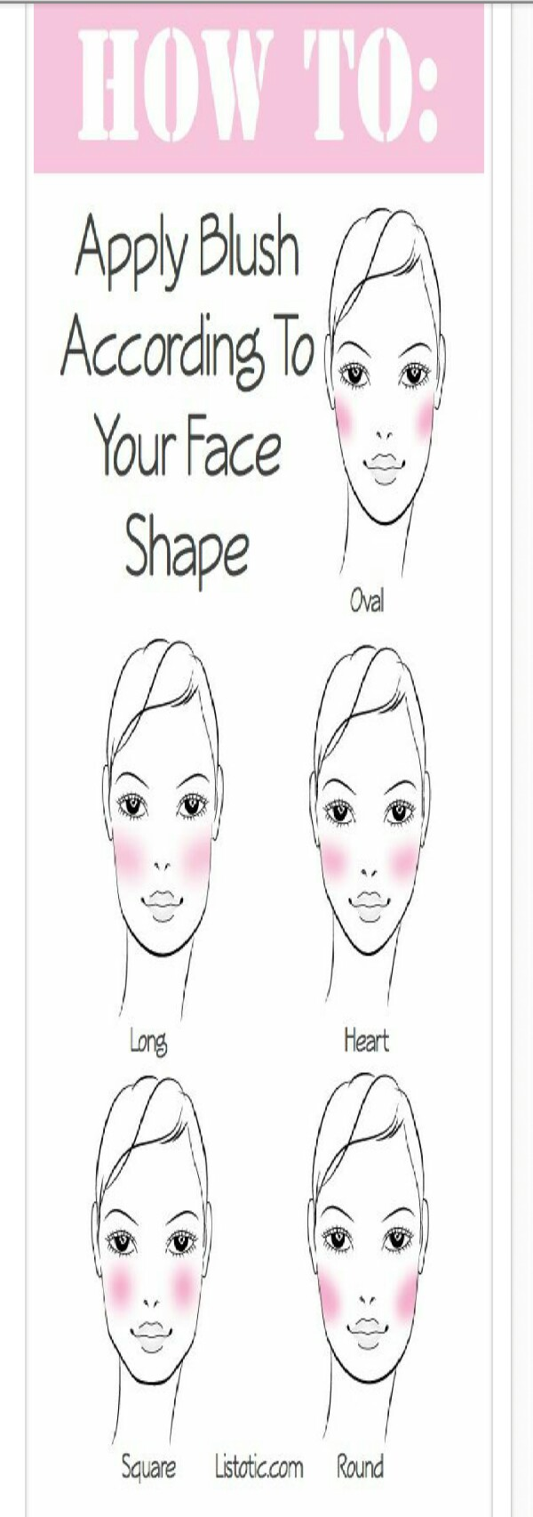 How to: apply blush according to your face shape.