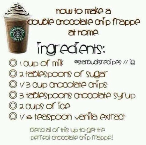 Make Your Own Starbucks Frappuccino!