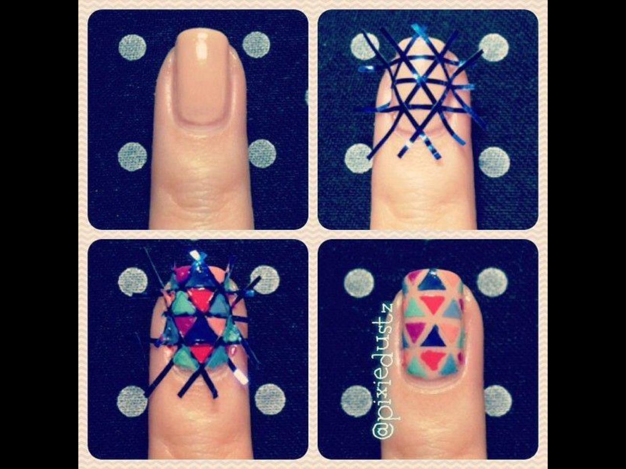 Легкие рисунки на ногтях для начинающих кисточкой