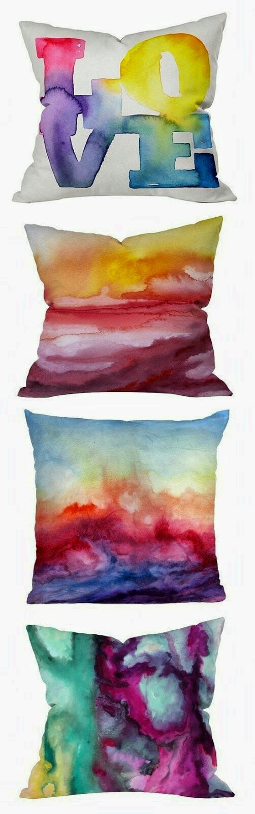 🌟DIY Watercolor Pillow Cases.  So cute and Easy🌟