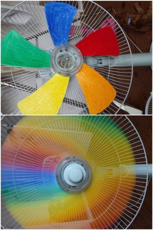 rainbow fan cute
