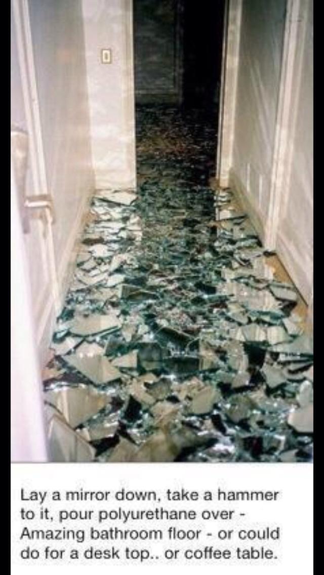 Diy Broken Mirror Floor Trusper