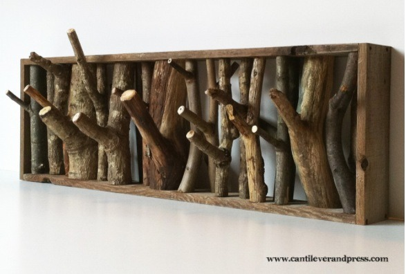 DIY Twig Coat Rack - Beautiful And Functional!