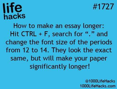 make your essay longer