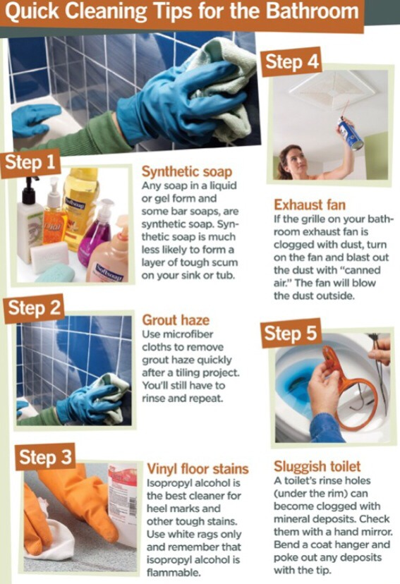 Quick cleaning tips for bathroom trusper - Five tips for quick cleaning ...