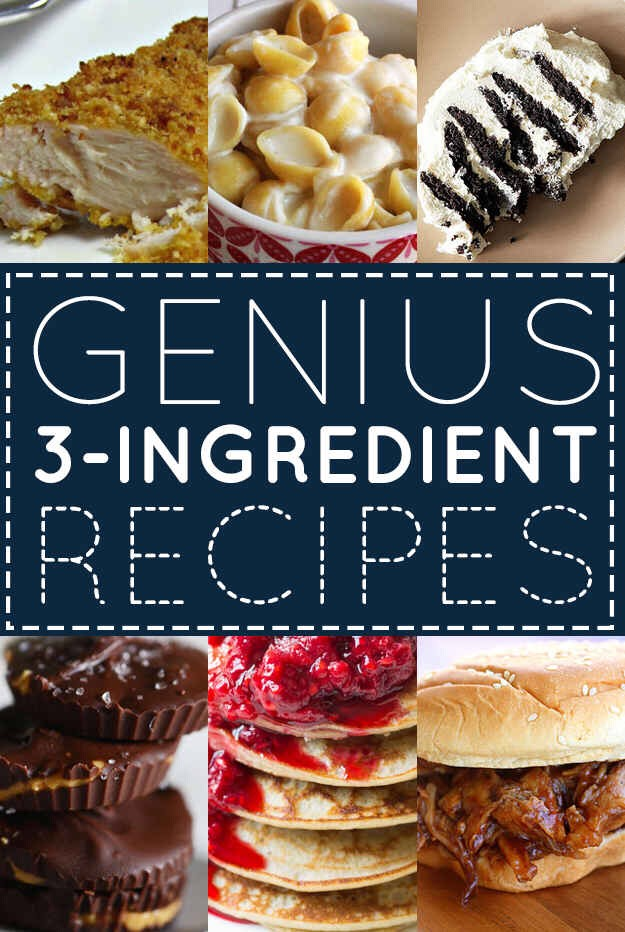 Astounding Collection Of 3-Ingredients Recipes. Part 1 Of 3