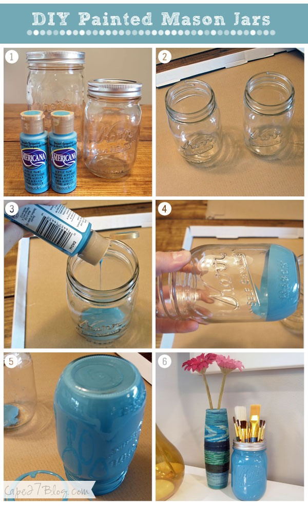 How to paint mason jars trusper for Best paint to use on glass jars