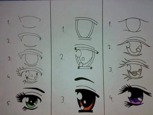 how to draw eye and nose