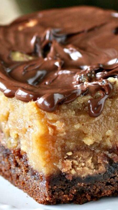 Chocolate Peanut Butter Ooey Gooey Butter Cake | Trusper