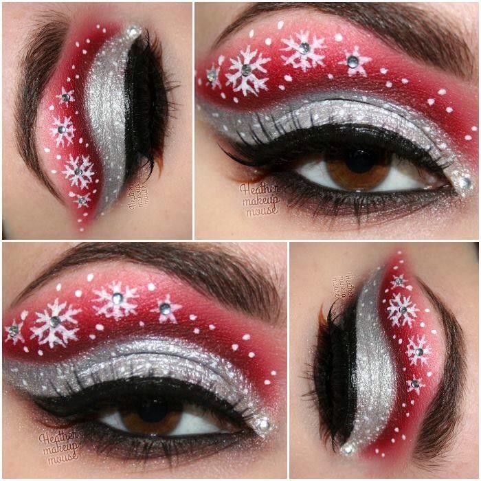 Glitter eye makeup tips glitter eye makeup ideas - Cute Eye Makeup Ideas For Christmas Trusper
