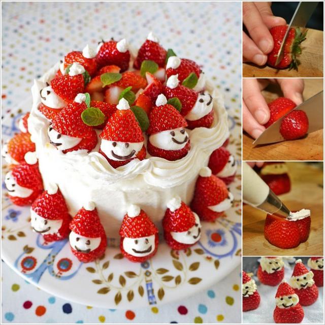 تزئین خوراکیها برای میهمانیهای کریسمس