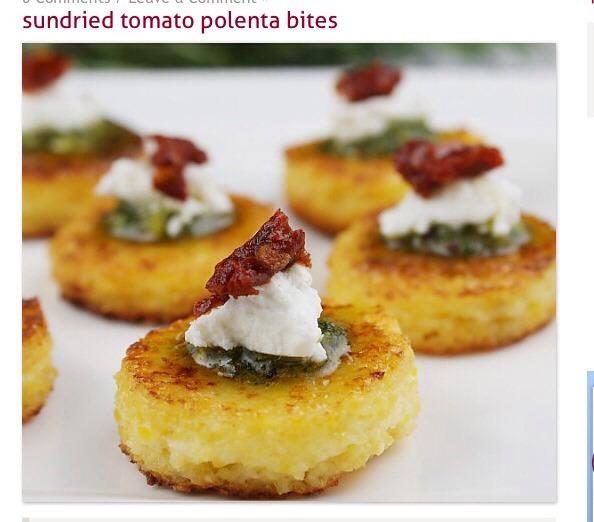 Sundried Tomato Polenta Bites | Trusper