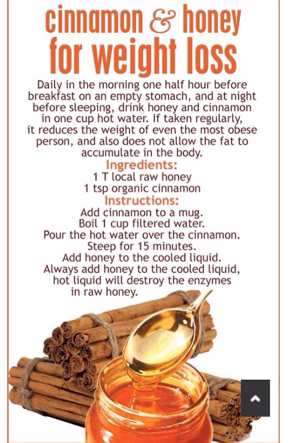 Cinnamon & Honey For Weight Loss 😍