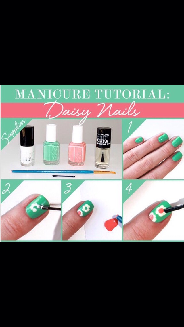 Easy Flower Nail Art! 🌼🌹🌺🌷🌸💐