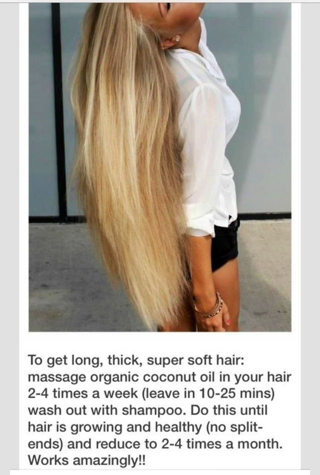 Get Longer, Thicker, Super Soft Hair With Organic Coconut Oil! #tipit