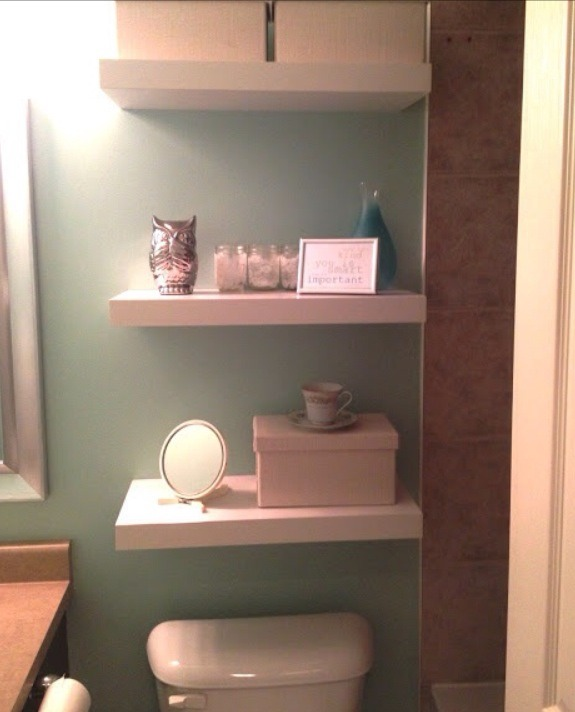 Diy Shelves For Small Bathrooms: DIY Small Bathroom Organization