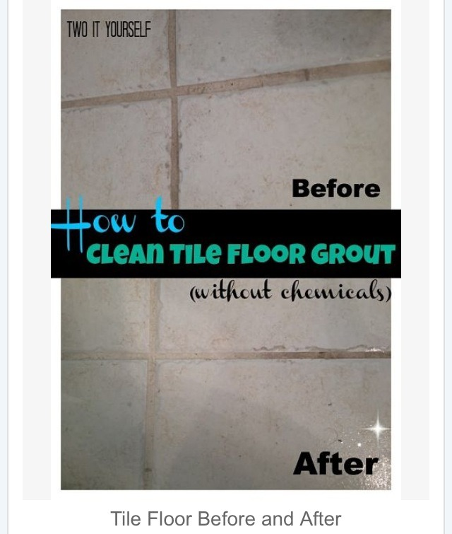 how to clean the floor grout trusper