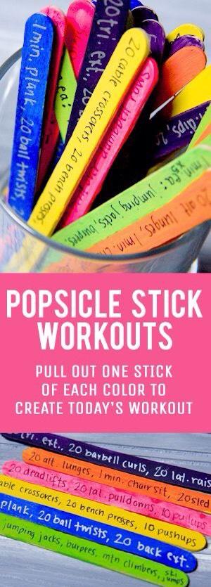 Popsicle Stick Workout Jar! 💖💪🏼