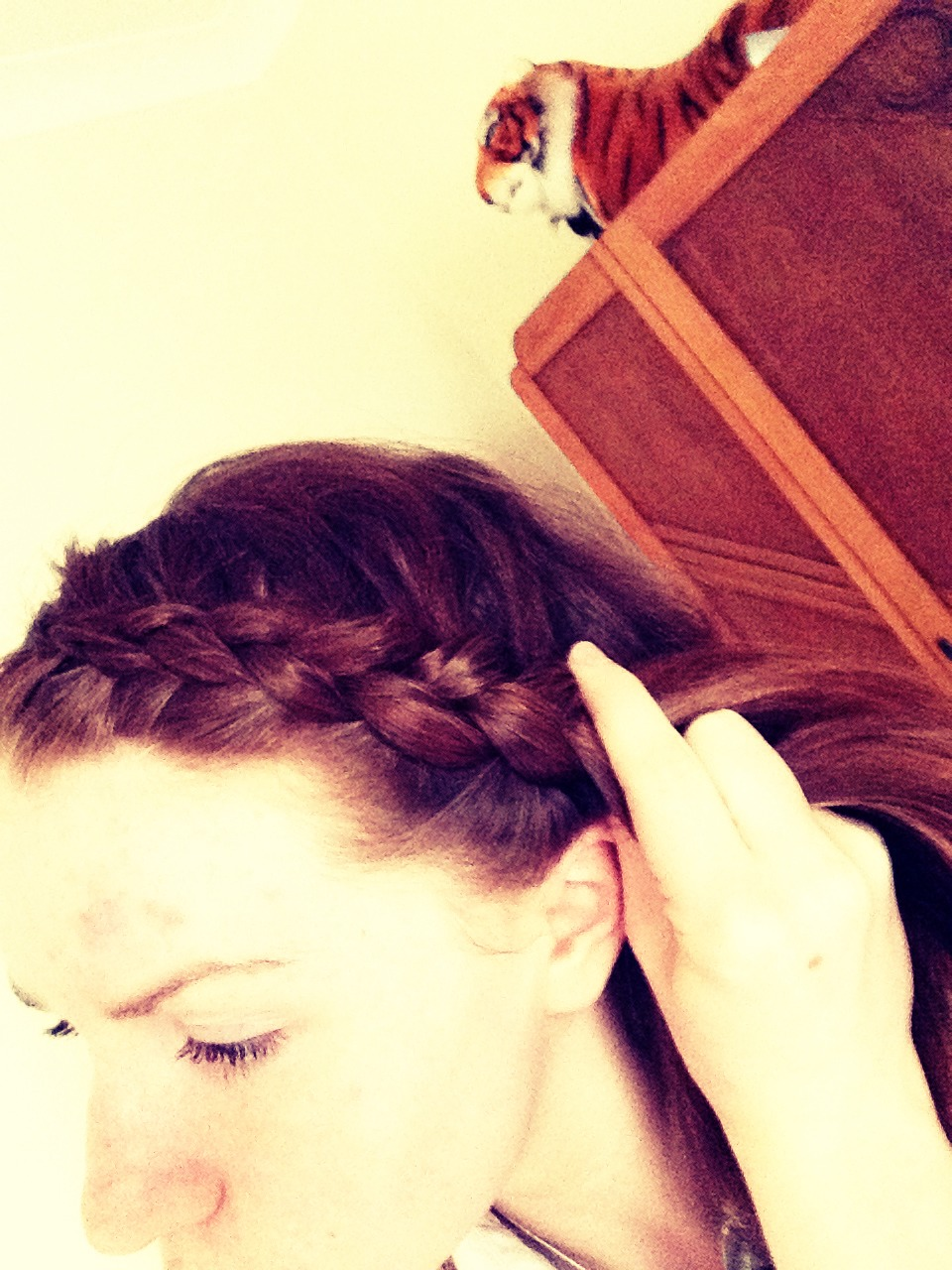 how to make braids across your head