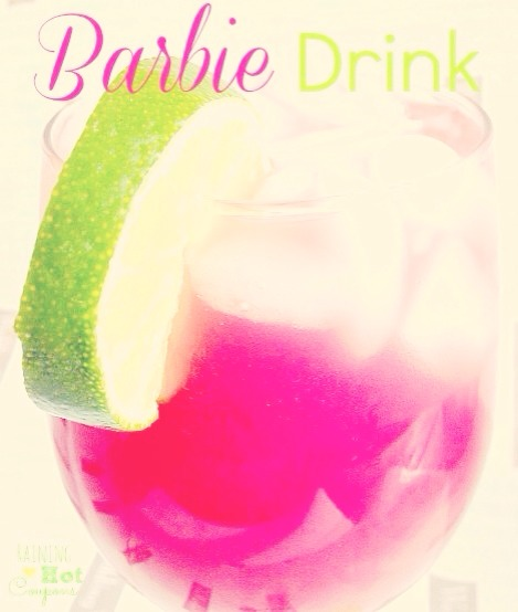 Hot Pink Barbie Drink (Alcoholic Version & Non-Alcoholic