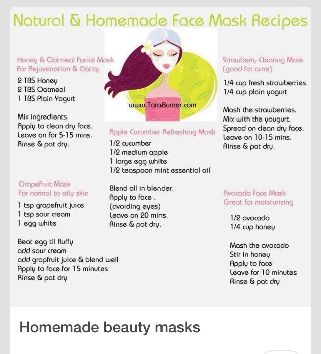 3 All Natural Diy Face Masks: Natural And Homemade Face Mask Recipes For Glowing Skin